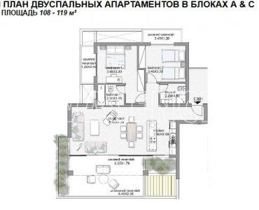 Квартира 1,2 и 3 спальни